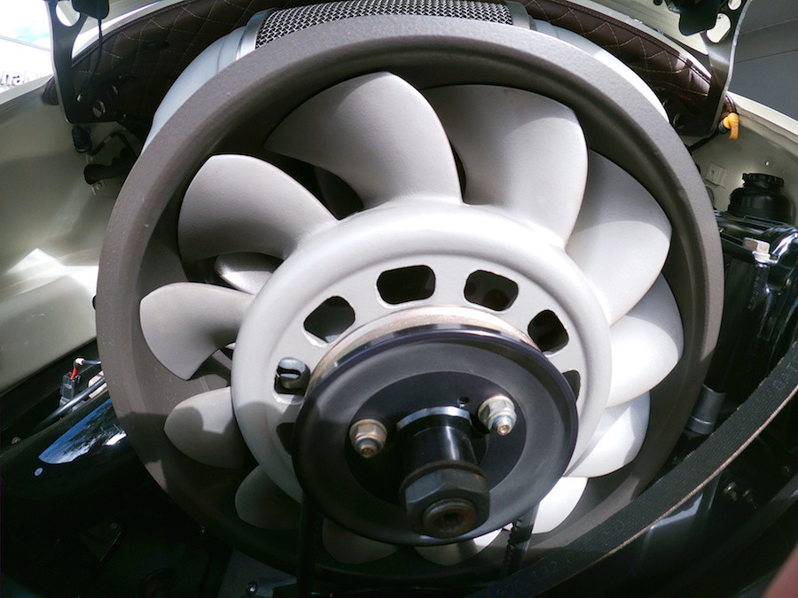 Porsche air-cooled flat six engine