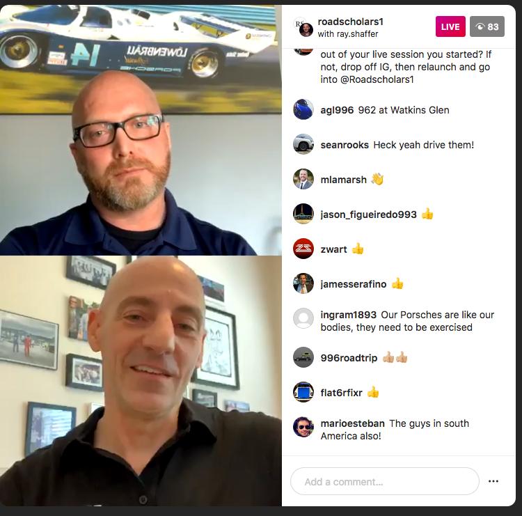Road Scholars Porsche Classic Instagram Live