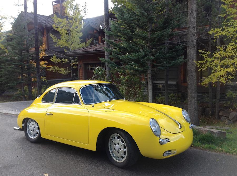 Yellow Porsche 356 Outlaw