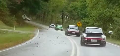 Porsche driving video