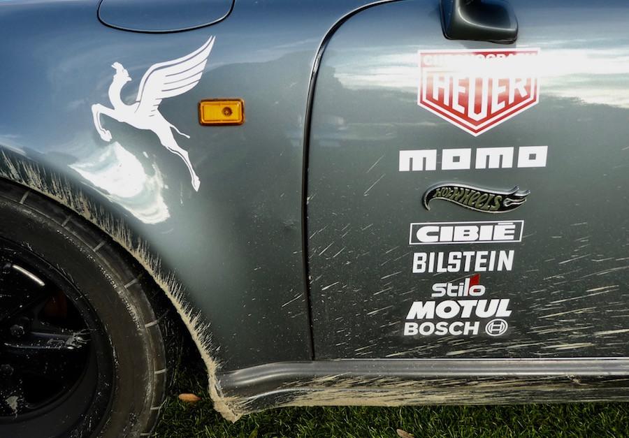 Porsche 911 Restomod with Pegasus Logo