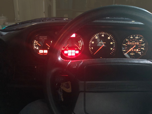Porsche Dash Emergency Lights