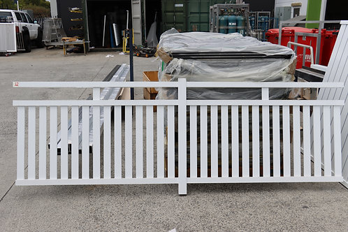 Fence Panel, 65x75 centre post, open ended - Hamptons Style
