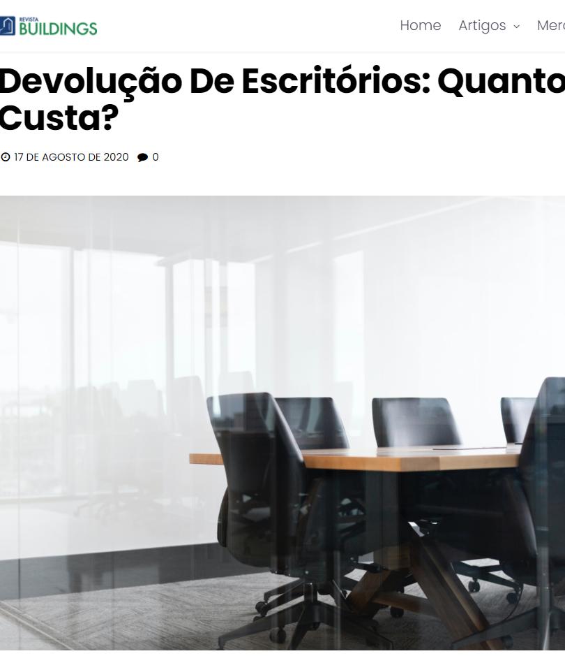 """""""Devolução de escritórios: Quanto custa?"""""""