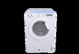 White front loading washing machine