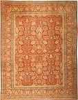 Worn oriental rug