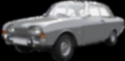 Well-maintained gray vintage sedan