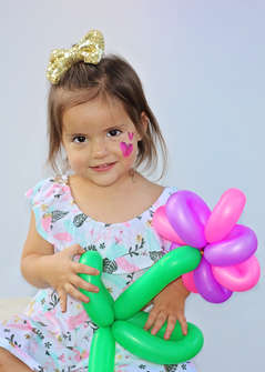 Face Painting Balloon Flower 2