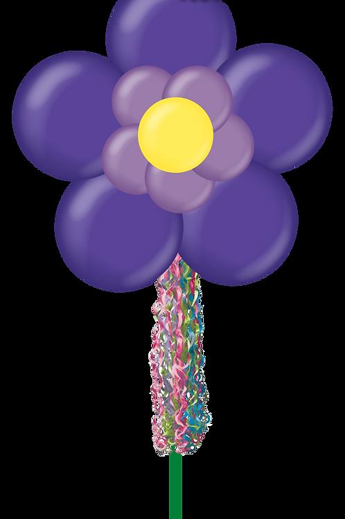 Double Layer Purple Flower