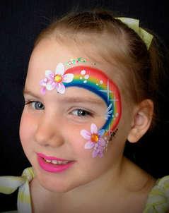Face Painting Rainbow Eye