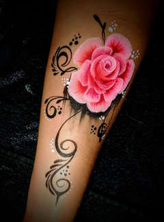 Face Painting Tattoo Flower