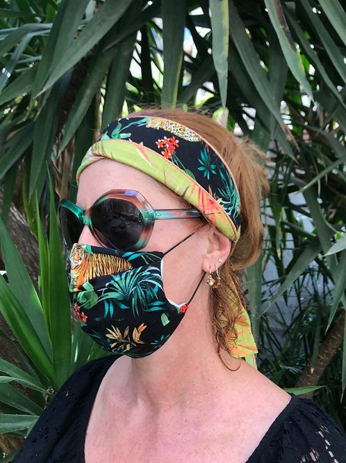 Masque barrière tissu safari n°22