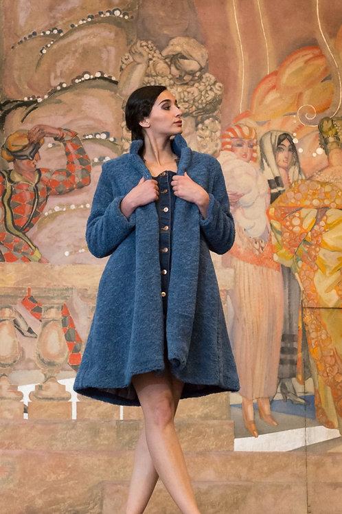 Manteau Dolie bleu de prusse