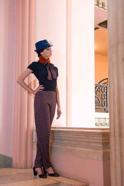Pantalon Suzie op art roux