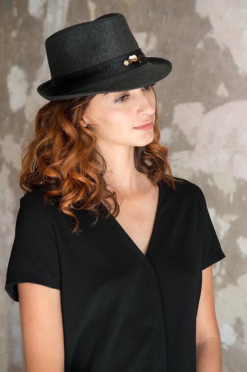 Chapeau paille Flambant noir