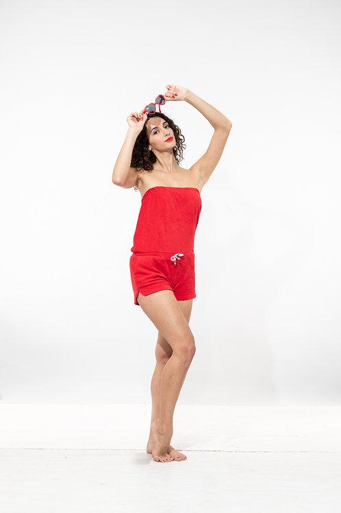 Combi - Bustier éponge rouge