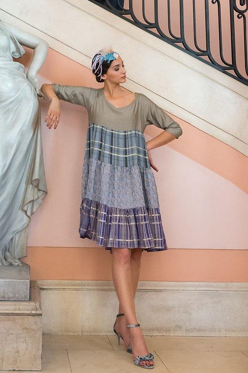 Robe Roma taupe lurex