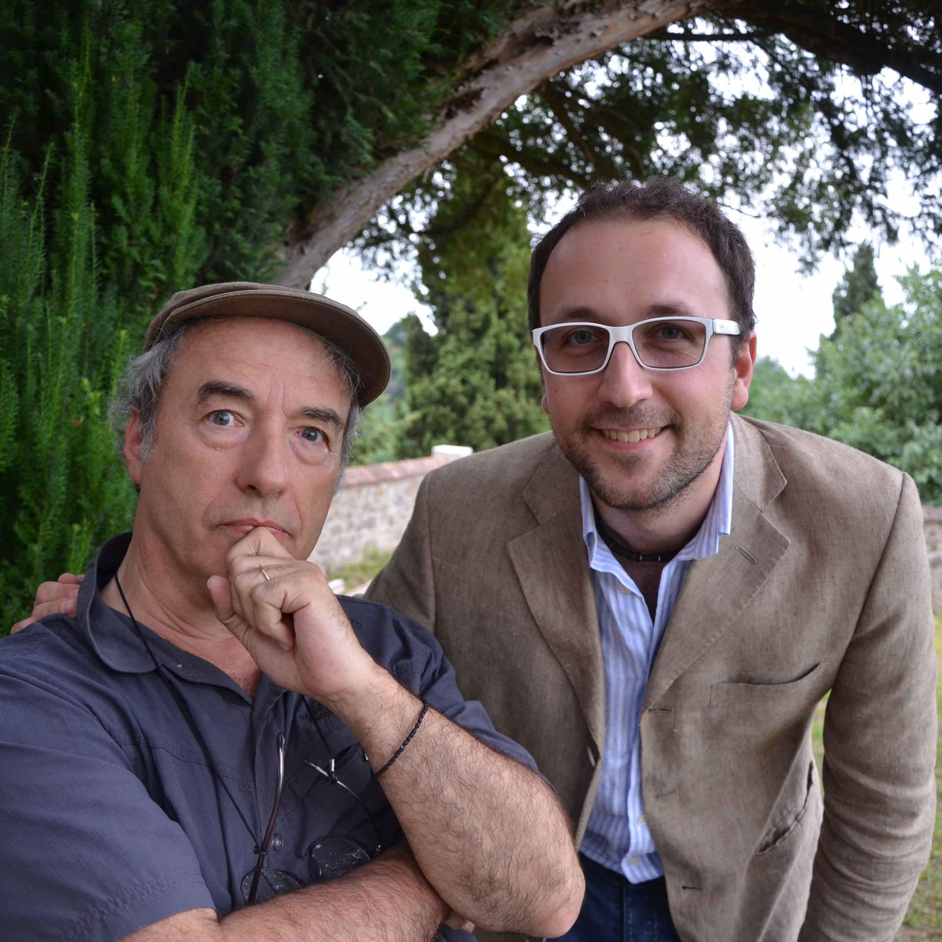 with David Riondino