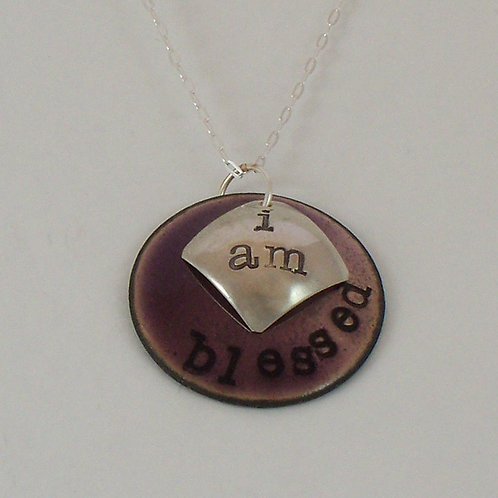 "Affirmation: With Secret Crystal Heart ""I Am"" Purple"