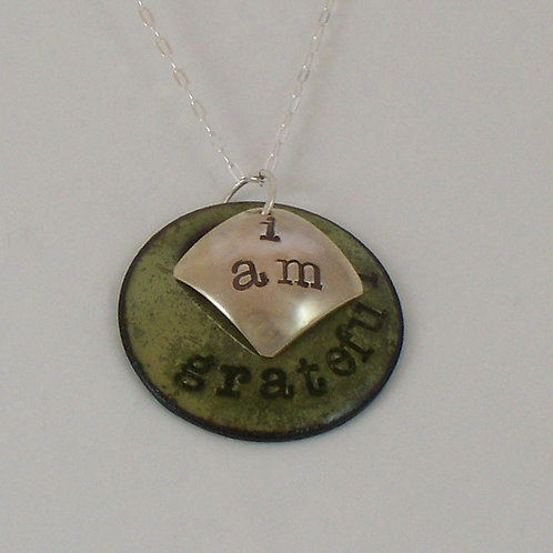 "Affirmation: With Secret Crystal Heart ""I Am"" Lime Green"