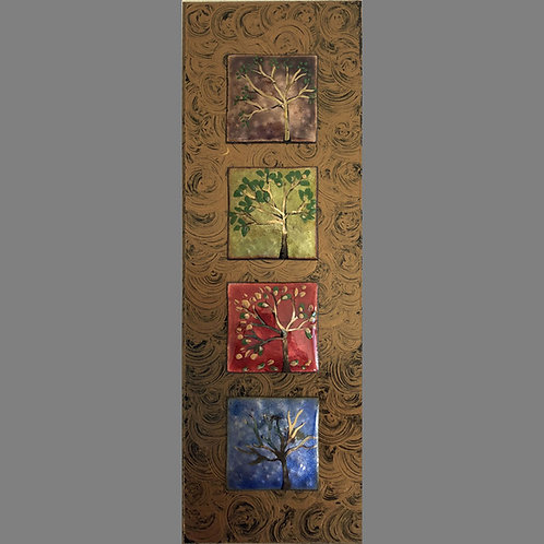 Vertical Frame - Tree of Life - Multi Color