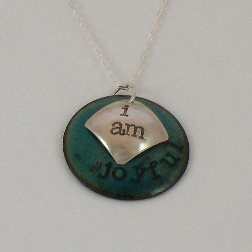 """Affirmation: With Secret Crystal Heart """"I Am"""" Teal"""