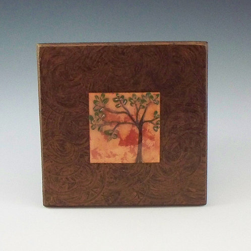 Small Frame - Tree of Life - Salmon (Clear Copper)