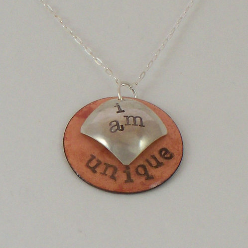"""Affirmation: With Secret Crystal Heart """"I Am"""" in Salmon"""