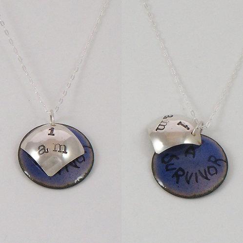 """Affirmation: """"I Am""""  in Blue"""