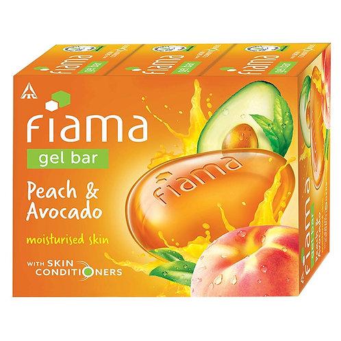 Fiama Gel Bar Peach and Avocado for moisturized skin - 125 gm