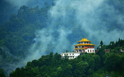 View-of-a-monastery-in-Sikkim-surrounded
