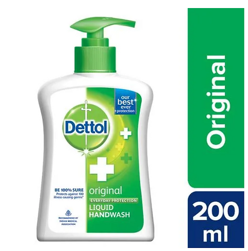 Dettol Original Hand Wash Liquid Pump - 200 ml