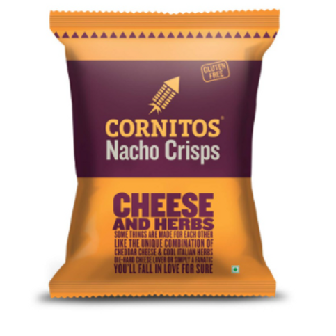 Cornitos Nacho Crisps, Cheese and Herbs - 140 gm