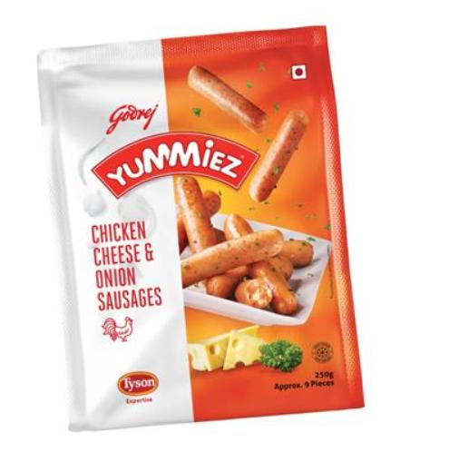 YUMMIEZ CHICKEN CHEESE & ONION SAUSAGES 250 gm