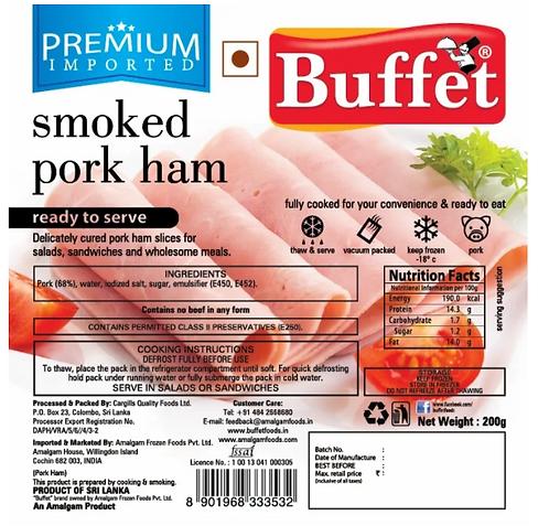 Smoked pork Ham - 200 gms