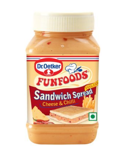 Funfoods Sandwich Spread - Cheese and Chilli, 275 gm