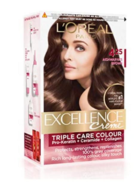 L'Oreal Paris Excellence Creme Hair Color, 4.25 Aishwarya's Brown