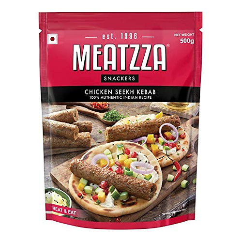 Meatzza Chicken Seekh Kebab, 500 g