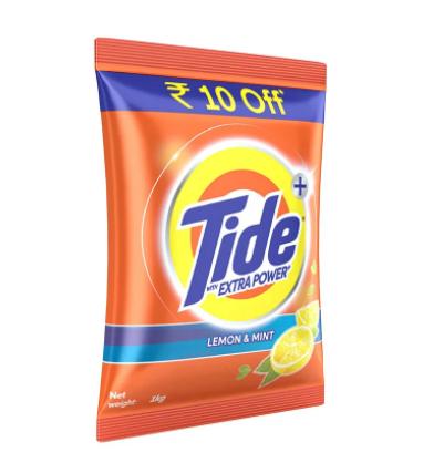 Tide Plus Extra Power Lemon & Mint Detergent Powder - 1 Kg