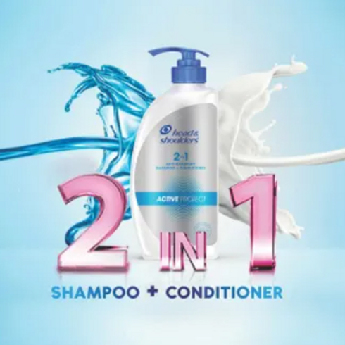 Head and Shoulders 2 in 1 active protect shampoo and conditioner 650 ml