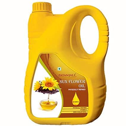 Patanjali Sunflower Oil - 5 L Jar