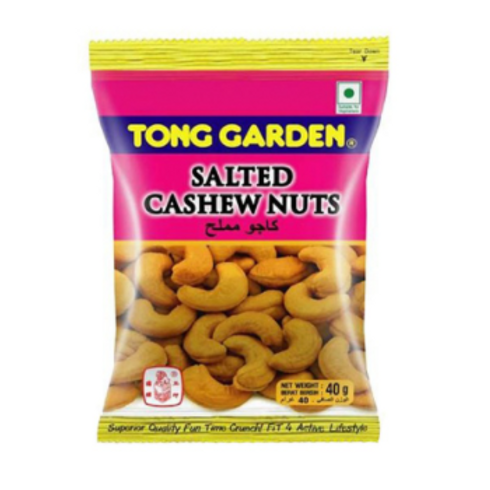 Tong Garden Cashew Nuts, Salted, 40 gm