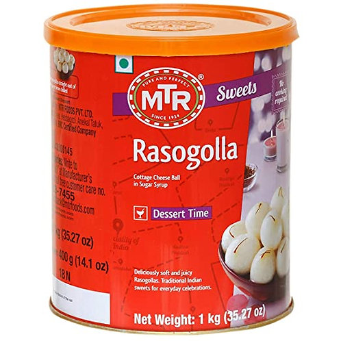 MTR Rasogolla, 1kg Tin