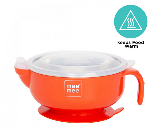 STAY WARM BABY STEEL BOWL WITH SUCTION BASE