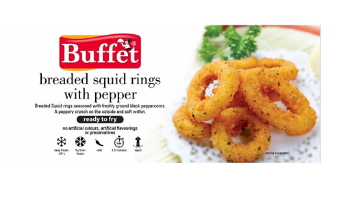 Breaded Squid Rings with Pepper- 200 gms