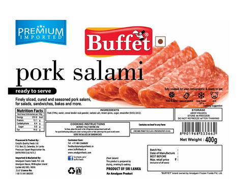 Buffet Pork Salami - 400 gm