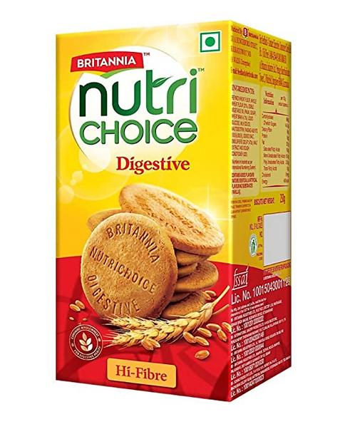 Britannia NutriChoice Digestives High Fibre - 200 gm
