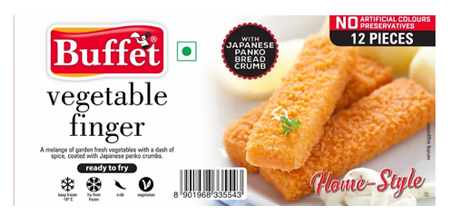 Breaded Vegetable Finger - 250 gms