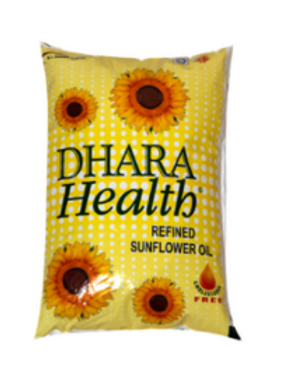 Dhara Health Sunflower Oil - 1 Ltr