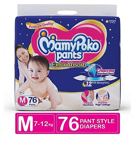 MamyPoko Pants Extra ADSORB Diaper-M (76 Pieces)